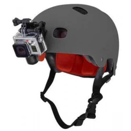 Placa frontal de casco